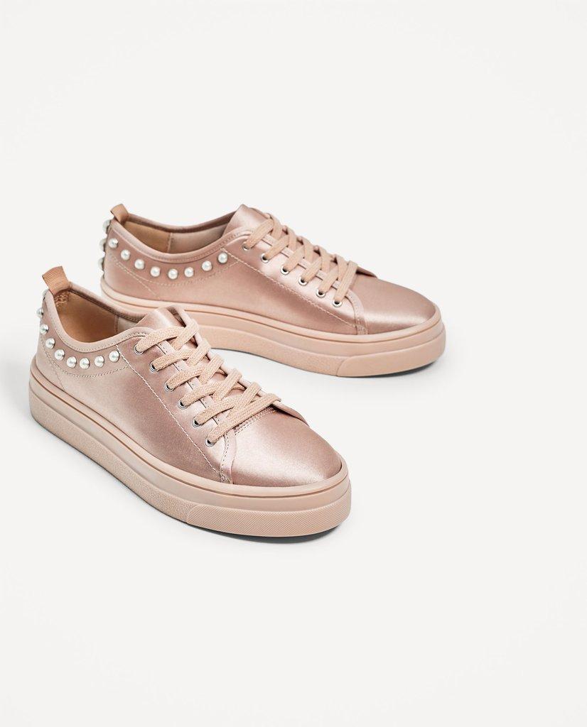 Zara Satin Sneakers