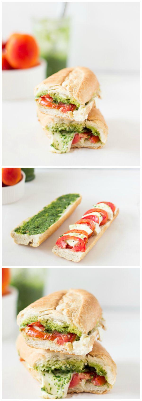 Caprese Sandwich με Πεστο