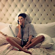 beverly-hills-fashion-editorial-shoot-bound-by-amelia-strauss-graham-yelton-india-wadsworth-sweater-in-bed-on-telephone