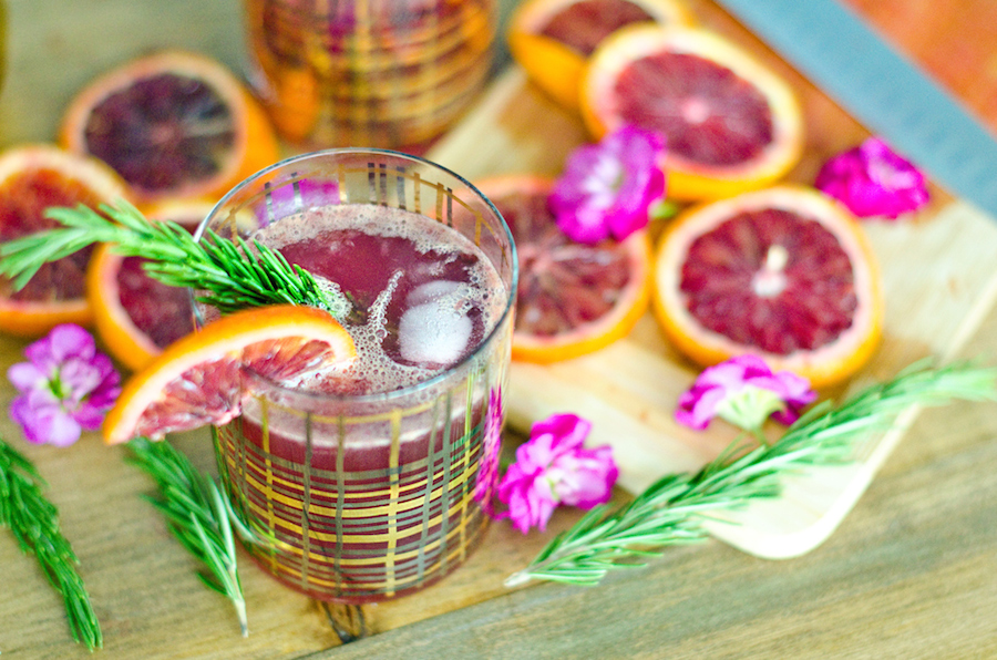 Blood Orange Gin Tonic Savoir Ville