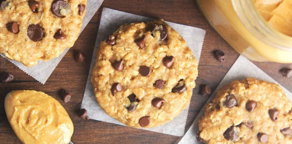 Υγιεινά cookies με φυστικοβούτυρο