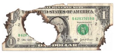 dollar-burnt