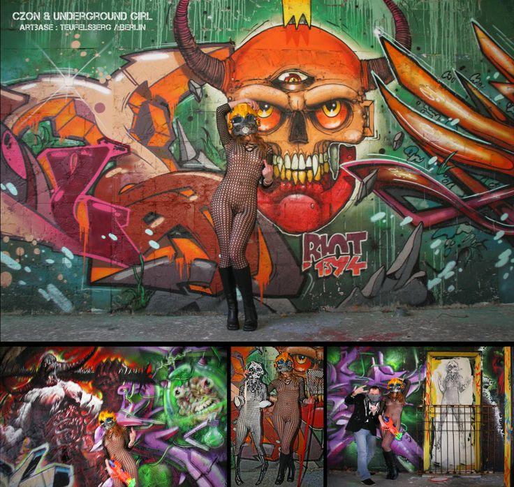 Underground Girl, Czon, Teufelsberg, streetart