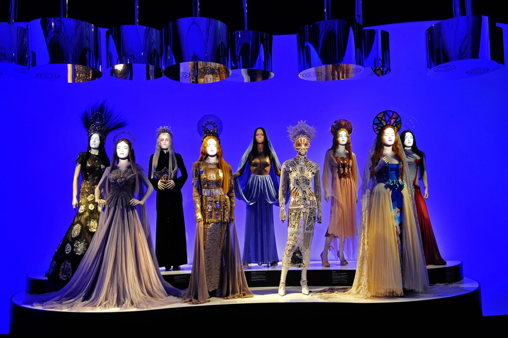 """View of the installation of """"Jean Paul Gaultier. From the Sidewalk to the Catwalk"""" at the Kunsthalle Munich"""