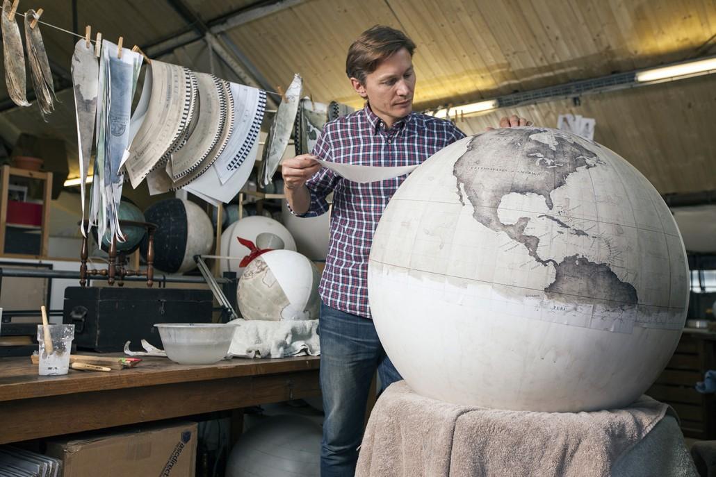 Peter Bellerby, Bellerby and Co. Globemakers, Hackney, London, UK