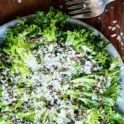 Πράσινη σαλάτα με vinaigrette