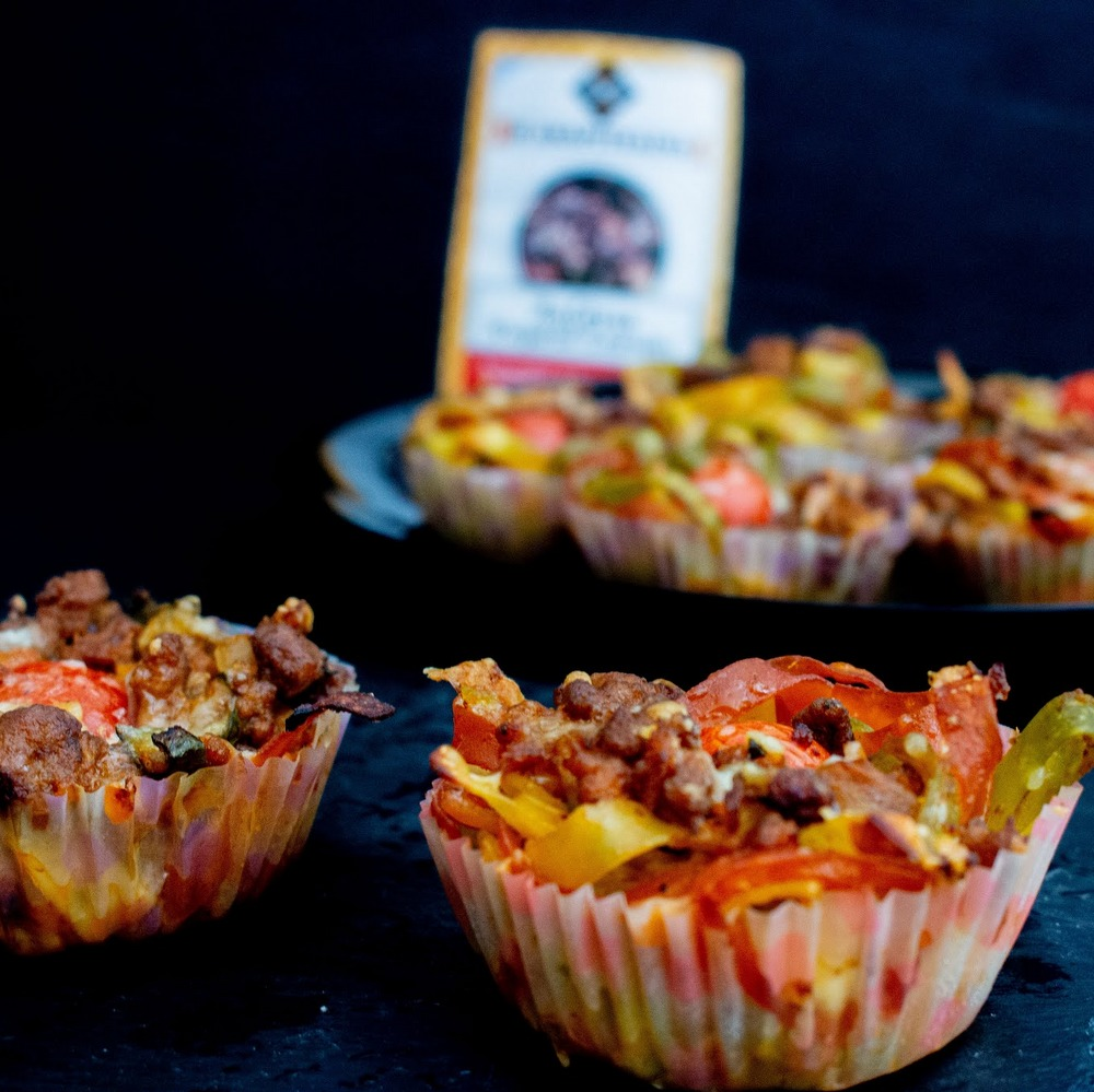 Muffins με λαζάνια και κιμά
