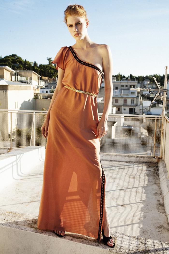 ss14 copper dress hellas dress