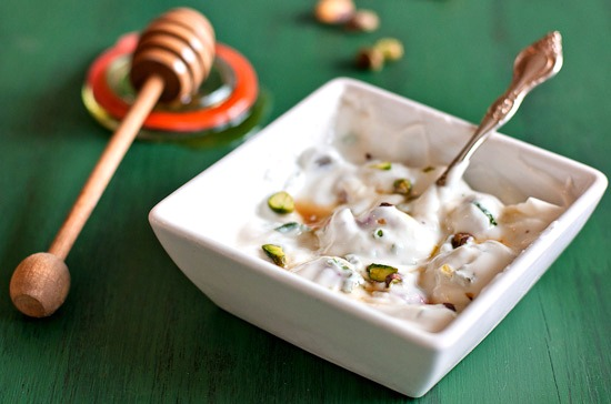 yogurt and pistachio